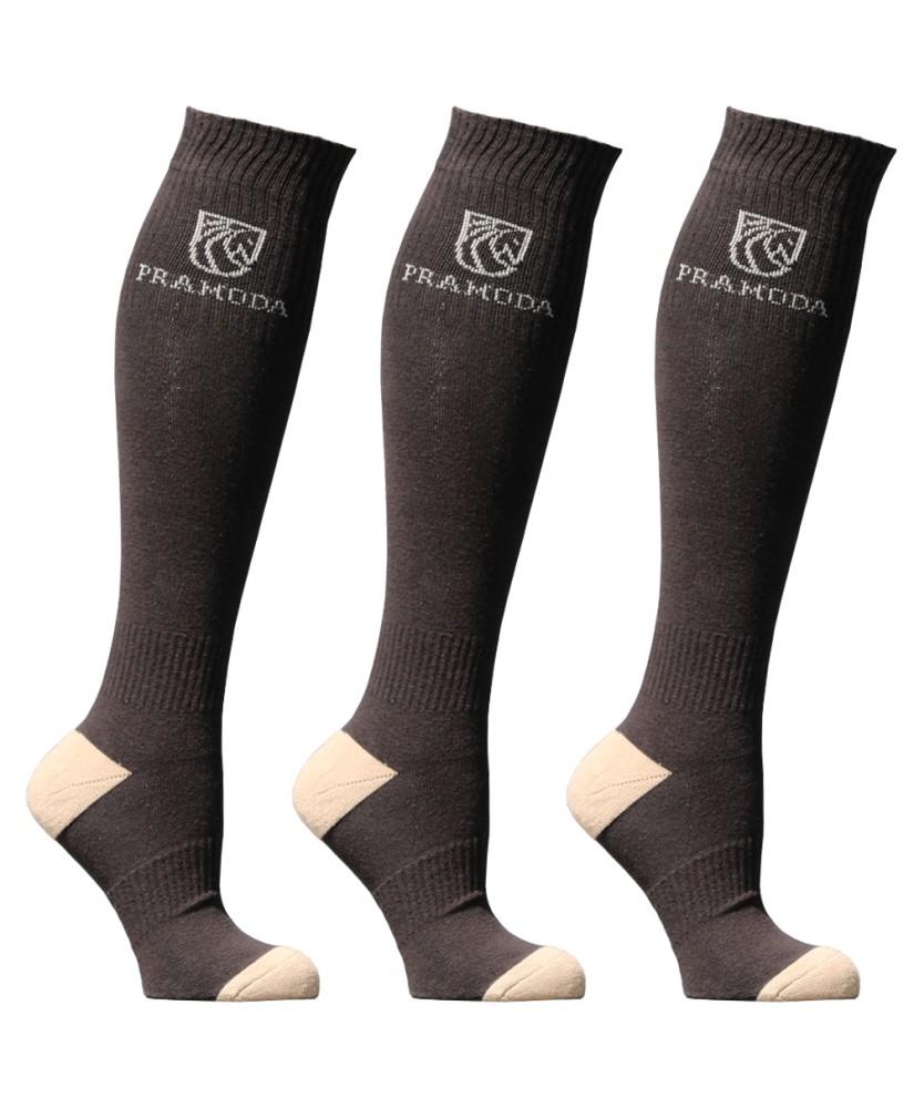 Pramoda Binici Çorabı 3'lü Paket (Kahverengi)